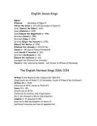 English Saxon Kings