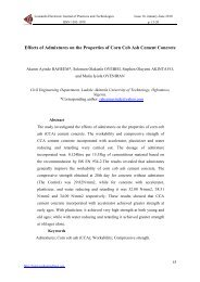 Effects of Admixtures on the Properties of Corn Cob Ash Cement ...