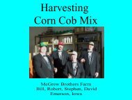 Harvesting Corn Cob Mix - Bioeconomy Conference 2009
