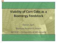 Viability of Corn Cobs as a Bioenergy Feedstock - University of ...
