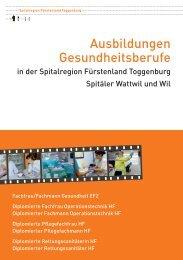 Ausbildungen Gesundheitsberufe (1177 kb, PDF) - Spitalregion ...