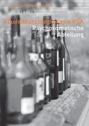 Akoholkurzzeittherapie PSA (917 kb, PDF) - Spitalregion ...