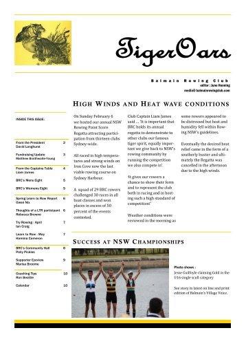 TigerOars - Balmain Rowing Club