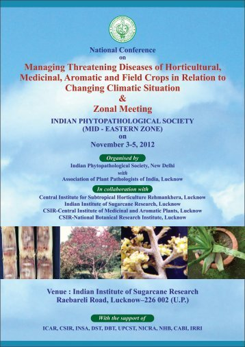 Mid-Eastern Zone Symposium 2012 at IISR, Lucknow - Ipsdis.org
