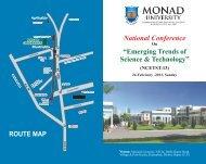Download Conference e-brouchere - Monad University