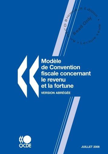 Modèle de Convention fiscale concernant le revenu et la fortune ...