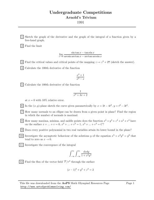 Aops Geometry Answers