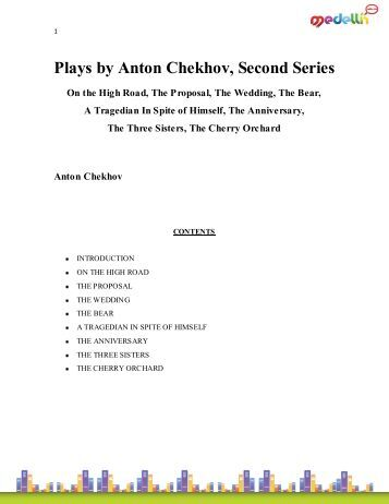 an analysis of the cherry orchard by anton cheknov By anton chekhov  analysis literary devices in the cherry orchard   chekhov felt the same, and often included stage directions s  three act plot  analysis.
