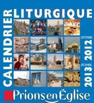Calendrier Liturgique 2012-2013 - Prions en Eglise