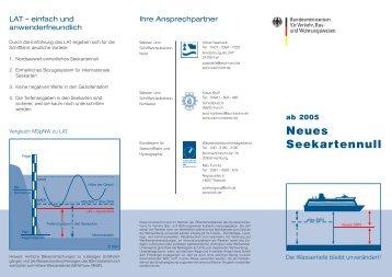 ab 2005 Neues Seekartennull - Wasser- und Schifffahrtsdirektion ...