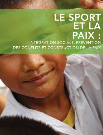 LE SPORT ET LA PAIX : - Right to Play