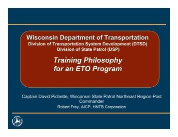 Training Philosophy for an ETO Program - Institute of Transportation ...