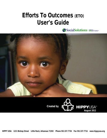 Efforts To Outcomes (ETO) User's Guide - hippy usa