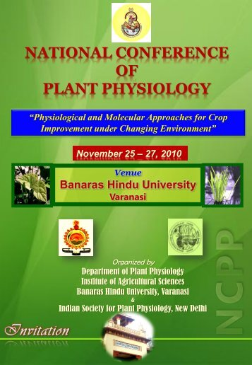 NATIONAL CONFERENCE OF PLANT PHYSIOLOGY - Bhu