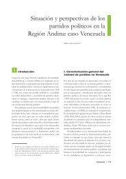 Situación y perspectivas de los partidos políticos en la Región Andina