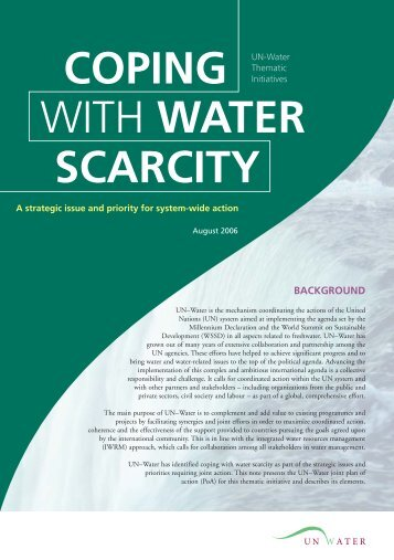 Coping With Water Scarcity - UN-Water
