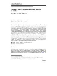 Assessing Cognitive and Behavioral Coping ... - Jelte Wicherts