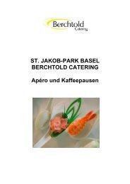 ST. JAKOB-PARK BASEL BERCHTOLD CATERING Apéro und ...
