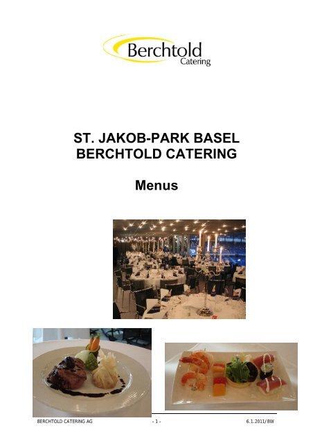ST. JAKOB-PARK BASEL BERCHTOLD CATERING Menus