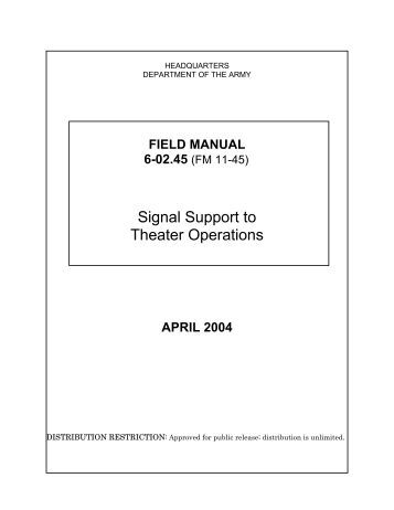 Signal Support to Theater Operations - GlobalSecurity.org