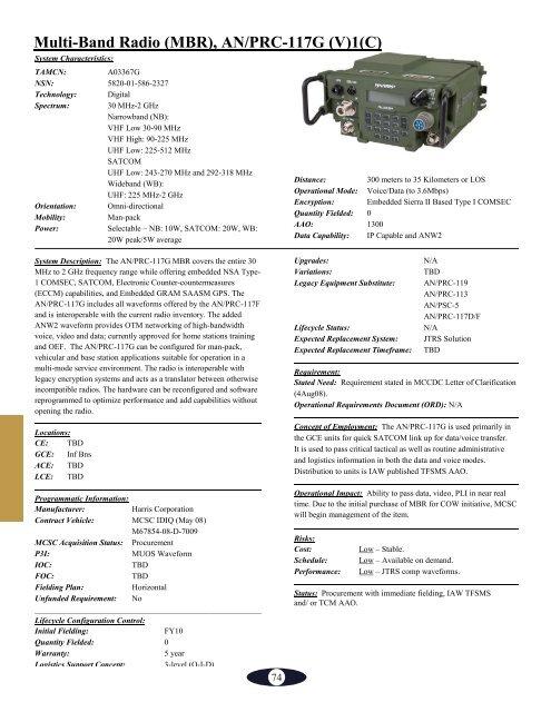 Multi-Band Radio (MBR), A