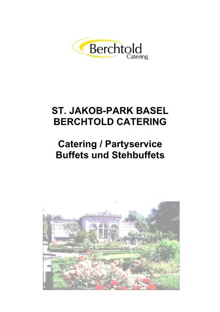 CATERINGANGEBOT - Berchtold Catering