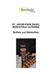 ST. JAKOB-PARK BASEL BERCHTOLD CATERING Buffets und ...