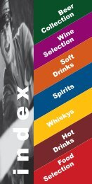 Beer Collection Wine Selection Soft Drinks ... - Berchtold Catering