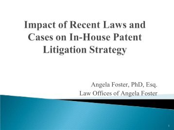Patent Panel Powerpoint - American Bar Association