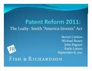 Patent Reform - Fish Presentation