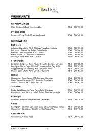WEINKARTE - Berchtold Catering