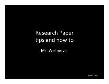Term paper tips