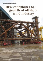 HFG contributes to growth of offshore wind industry - Heerema ...