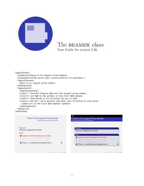 The beamer class - TeXdoc net