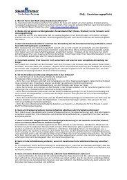 FAQ - Versicherungspflicht