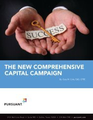 THE NEW COMPREHENSIVE CAPITAL CAMPAIGN