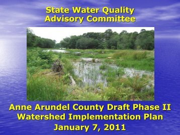 Anne Arundel County Draft Phase II Watershed Implementation