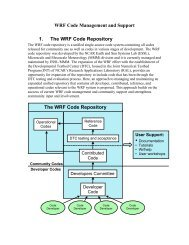 WRF-ARW User's Guide - MMM - UCAR