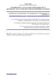 CONTRIBUTION A L'EVALUATION STRATEGIQUE DE LA ... - ISDM