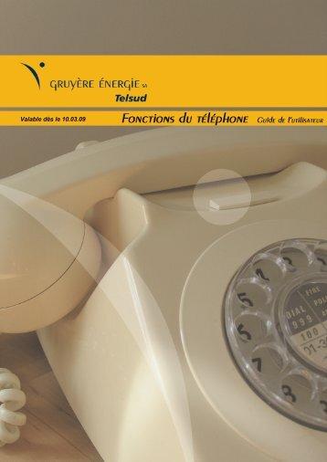 Fonctions du téléphone - Gruyère Energie
