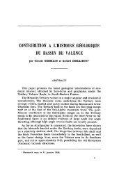 contribution a l'histoire géologique du bassin de valence - Revue de ...