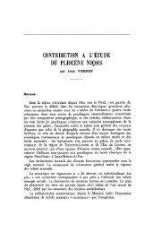contribution a l'étude du pliocène niçois - Revue de géologie alpine