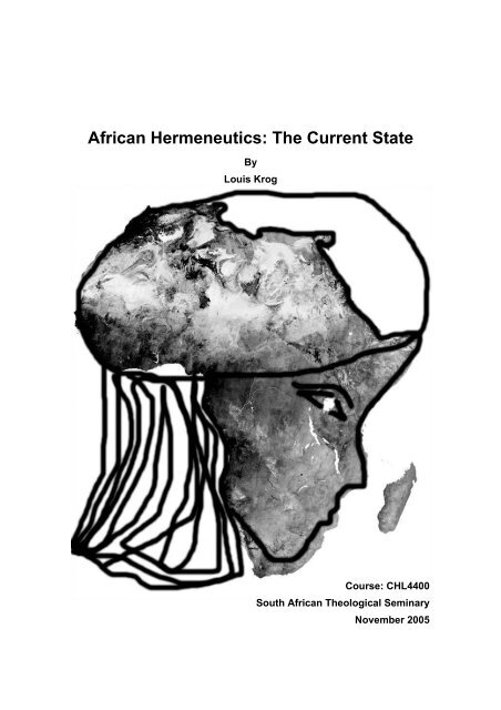 African Hermeneutics: The Current State - Theology In Africa