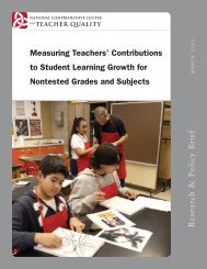 Measuring Teachers' Contributions to Student Learning Growth for ...
