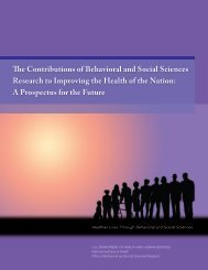 The Contributions of Behavioral and Social - OBSSR - National ...