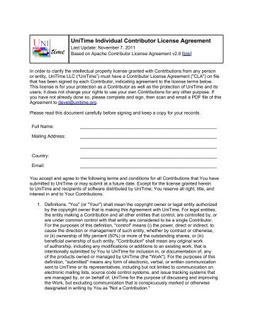 Research In Motion Limited Corporate Contributor License Agreement