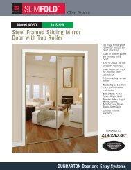 Steel Framed Sliding Mirror Door With Top Roller - Menards