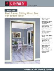 Steel Framed Sliding Mirror Door with Bottom Roller - Dunbarton ...