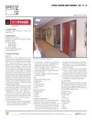 STEEL DOORS AND FRAMES 08 11 17
