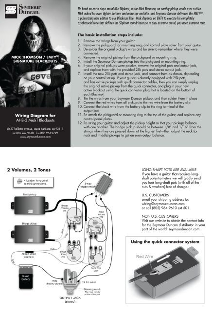 [DIAGRAM_38ZD]  Wiring instructions - Seymour Duncan | Blackout Pre Amp Wiring |  | Yumpu
